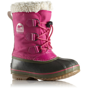 Sorel Youth Yoot Pac Nylon Boots Ultra Pink/Alpine Tundra